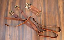 Multi-Camera dual leather strap harness shoulder fast belt brown leather