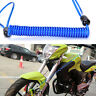Motorcycle Bike Scooter Alarm Disc Lock Security Spring Reminder Cable Blue Nice