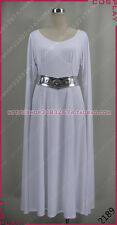 Star Wars Leia Princess White Halloween Dress Cosplay Costume S002
