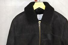 GORGEOUS!!! SAMSOE & SAMSOE  MEN SHEEPSKIN LEATHER SHEARLING WARM JACKET XXL