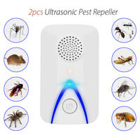1 Pair Ultrasonic Repeller Pest Electronic Reject Control Bug Insect Cockroach