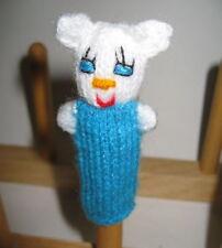 NEW Female Girl Mouse HandKnitted Finger Puppet PERU Folk Art Adorable Handmade