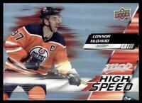 2020-21 UD MVP High Speed #HS-1 Connor McDavid - Edmonton Oilers