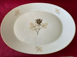 VINTAGE - ROSENTHAL - SHADOW ROSE - LARGE OVAL PLATTER 40X30 MINT COND. 1953-89