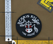 """Ricamata / Embroidered Patch """"Chirs Kyle The Legend"""" with VELCRO® brand hook"""