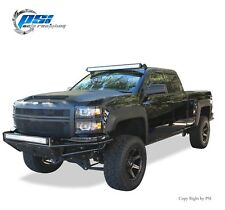 Black Textured Extension Fender Flares 14-18 Silverado 1500 ; 15-18  2500 / 3500
