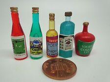 Échelle 1:12 5 bouteilles de spiritueux maison de poupées miniature pub bar accessoire