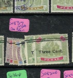 MALAYA PERAK (P2311B) ELEPHANT , TIGER OVPT SET SG 83-7  NGAI