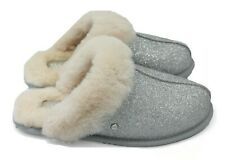 4542ec28faf UGG Scuffette II Sparkle - Women s Sheepskin Slipper - Silver - NEW  Authentic