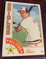 Cal Ripken Jr 1984 Topps All Star Card #400, Baltimore Orioles MLB HOF'er
