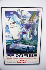 Corvette America's Cup San Diego 1992 Poster Chevrolet Sailing