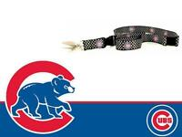 Chicago Cubs MLB Baseball Team Logo White Polka Dot Lanyard