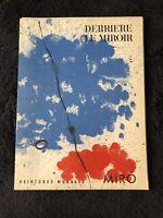 Joan Miro Derriere Le Miroir DLM No 128 June 1961 Peintures Murales Lithograph
