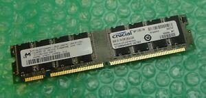 256MB Micron MT16LSDT3264AY-13EG3 PC133 133MHz 168-Pin CL2 Non-ECC SDRAM Memory