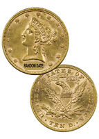Random Date 1866-1907 $10 Liberty Eagle Gold Coin With Motto AU SKU36946