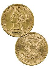 Random Date 1866-1907 $10 00004000  Liberty Eagle Gold Coin With Motto Au Sku36946