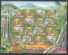 ANIMALS, WILD CATS, WWF ON MALAYSIA 1995 Scott 541a, SHEET OF 4 SETS, MNH