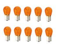 10 BAU15S 12V 21W Blinkerbirne Lampe Gelb Orange keine LED