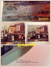 Maurice Utrillo Vintage Print Plate 7 RUE RAVIGNAN 1911