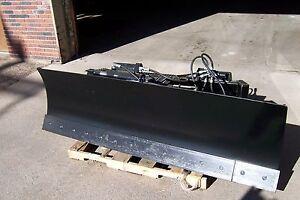 new heavy 8 foot six way dozer blade for skidsteer also snow plow fits bobcat