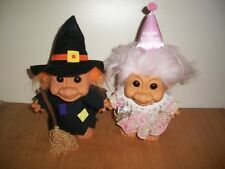 """Troll, Russ, 2, Halloween Witch & Birthday Girl, Hat & Gifts, Collectible, 7"""""""