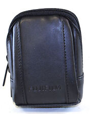 Fujifilm FinePix Compact PU Leather Digtal Camera Pouch Case Black Belt Loop