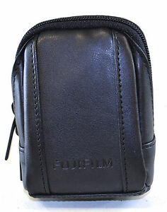 Fujifilm FinePix Compact PU Leather Digtal Camera Pouch Case Black Belt Loop