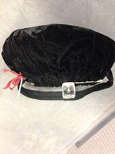Vintage 1920s Black Velvet Evening Bag with wonderful Lucite clasp