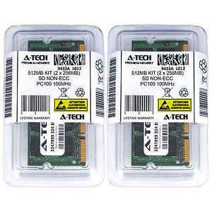 512MB KIT 2 x 256MB SODIMM SD NON-ECC PC100 100MHz 100 MHz SDRam 512M Ram Memory