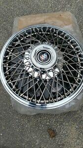 "NOS GM Buick 13"" Wire Wheel Hubcaps Skyhawk Skylark Somerset 1986 87 88 89"