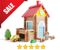 Log Cabin Building Blocks Set Montessori Toys STEM Learning Toys Wooden Building