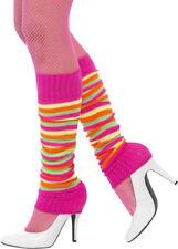 1980s Neon Rainbow Striped Legwarmers