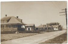 Street View, Harrington, Maine Old Real Photo Postcard
