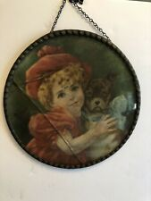 Antique Victorian *My Friend Barney* Flue Cover