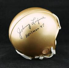 Johnny Lujack SIGNED Notre Dame Mini Helmet + Heisman 47 PSA/DNA AUTOGRAPHED