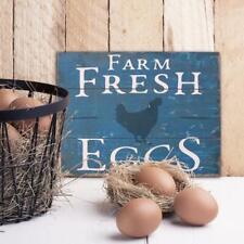 Farm Fresh Eggs Blue Wooden Sign