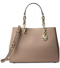 NWT Michael Kors Cynthia MD Satchel Truffle gold chain bag Saffiano leather