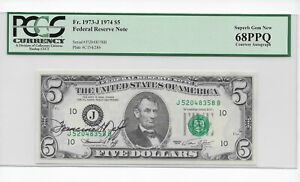 1974 $5 FRN with Courtesy Autograph of Francine I. Neff PCGS 68PPQ