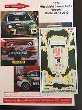 DECALS 1/43 MITSUBISHI LANCER VOSSEN RALLYE MONTE CARLO 2012 RALLY WRC