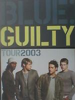 BLUE guilty tour - 2003 - TOUR PROGRAMME - 28 pages