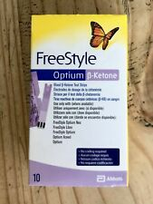 Abbott Freestyle Optium Beta ß-Ketone Blood Test Strips x10 for Neo Libre Xceed