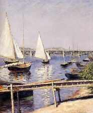 Metal Sign Caillebotte Gustave Sailing Boats At Argenteuil A4 12x8 Aluminium
