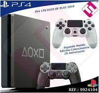 DAYS OF PLAY PS4 1TB 2019 PLAYSTATION 4 EDICION LIMITADA + SEGUNDO MANDO 20TH