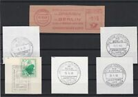 German Shipspost Stamps Cancels on Piece Ref 23886