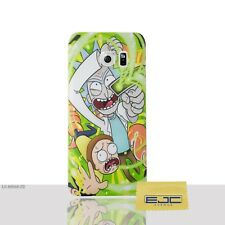 Rick and Morty Case/cover for Samsung Galaxy S6 (g920) Screen Protector / GEL Portal Gun