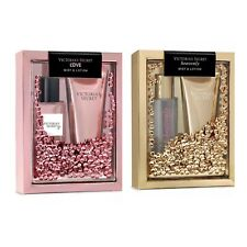 Victoria's Secret LOVE and HEAVENLY Fragrance Mist & Lotion Gift Set