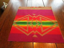 """Pendleton Wool Indian Blanket REMNANT NEW Fabric 17""""x18"""" Small Project PW137"""