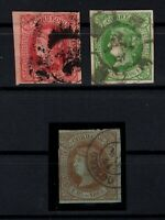 P135031/ SPAIN STAMPS – EDIFIL # 64a - 65 - 67 USED – CV 146 $
