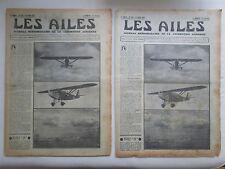 AILES 1935 736 POTEZ BLOCH STABILITE POU PLAN 10000 PLANEUR RIEDEL ST NAZAIRE