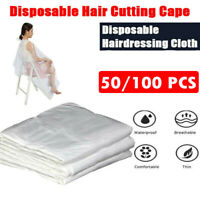100pcs Disposable Hair Cutting Capes Hairdressing Home Barber Apron Dyeing Gown